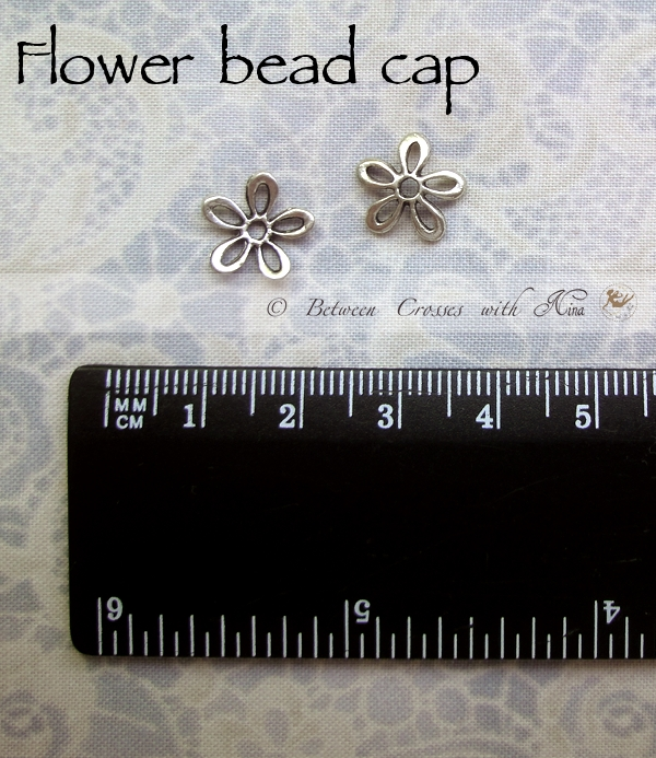 Flower bead cap